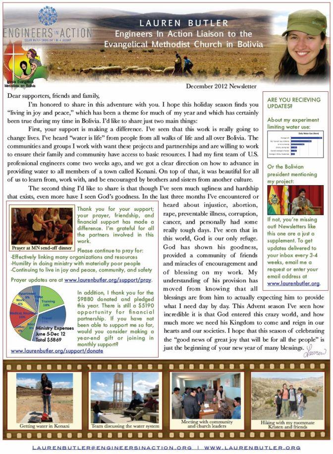 Lauren's Dec Newsletter